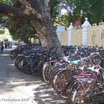bicycle parking, pondicherry 2006
