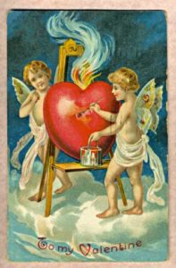 """Antique Valentine 1909 01"" by Chordboard - Self, from material in my possession.. Licensed under Public Domain via Wikimedia Commons - http://commons.wikimedia.org/wiki/File:Antique_Valentine_1909_01.jpg#mediaviewer/File:Antique_Valentine_1909_01.jpg"